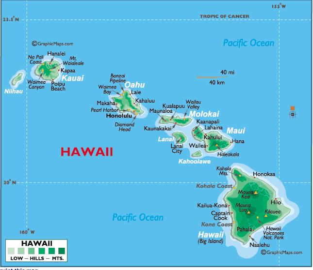 Kauai Health Guide Lahaina Noon Kau Ka La I Ka Lolo The Day - Map of us tropic of cancer